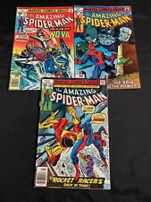 LOT OF 3 THE AMAZING SPIDER-MAN COMIC BOOKS #171 #181 #182 (1977-1978) +