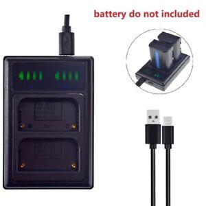 LCD Dual NP-FM50 Battery Charger for Sony DCR-TRV285 TRV300 TRV325 TRV330 TRV340