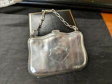 ART DECO Solid Silver Purse Hallmarked Birmingham / Ladies Coin Case / Antique