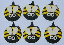 12 edible large BEES cake CUPCAKE topper DECORATION WEDDING birthden GARDEN BEE