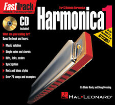 FastTrack Mini Harmonica Method 1 Harp Learn Beginner Music Lessons Book Cd New