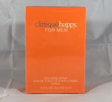 Happy For Men By Clinique 3.3 / 3.4 oz EDT Cologne Spray New In Box Sealed
