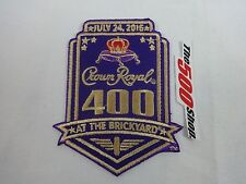 2016 Crown Royal 400 At The Brickyard Collector Event Patch IMS Indy