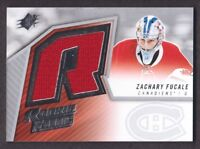 2015-16 SPx '05-06 Retro Rookie Jersey SPXR-ZF Zachary Fucale Montreal Canadiens
