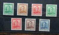 New Zealand 1938 - 44 set to 3d MM (1/2d Green Rust 1/2d Brown light crease)