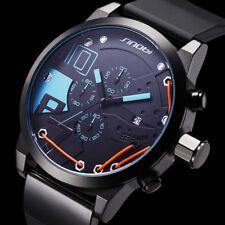 Herrenuhr Sport Chronograph Edelstahl Armband Uhr Schwarz Armbanduhren Geschenk