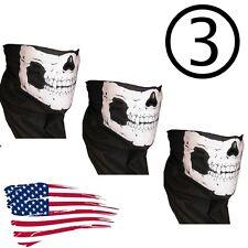 3   skeleton Ghost Balaclava Logan Skull Face Mask Hood Biker