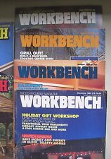 Lot 6 1980s Workbench Magazines Back Issues Woodworking Woodworker Wood Shop DIY