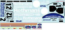 1/10 Porsche le mans wsc 956 / 962 group C decal sticker for f103 f104 car