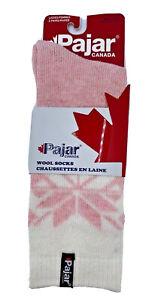Pajar of Canada pink 2 pair of wool blend socks womens shoe size 4-10 sock 9-11