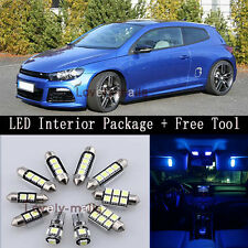Error Free Blue Car Auto Light Interior LED Package for VW Scirocco 3R + TOOL Y2