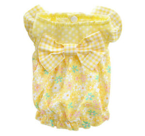 Puppy Clothes Dog Dress Pet Cat Tutu Cotton Skirt Apparel Costume XS S M Yorkie