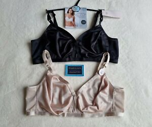 NEW M&S 2 PACK  NON WIRED CROSSOVER SMOOTHING FULL CUP BRA SIZE 42C