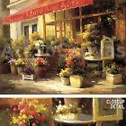 """48""""x36"""" GARDEN CAFE by CALVIN STEPHENS ARTTOCANVAS ROMANTIC EURO STREET CANVAS"""