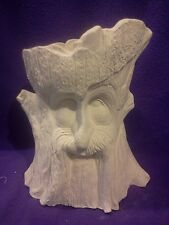 """Robin Wood the Ent planter 11.5"""" ready to paint, Ceramic Bisque"""