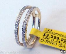 1/4ct Prong Set Solitaire Enhancer Diamonds Ring Guard Wrap 14k Yellow Gold NEW