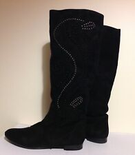 Office London Black Suede Knee High Suede Boots,  UK 6,5/ EU 39,5