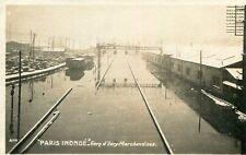Carte PARIS inondé Gare d'Ivry Marchandises