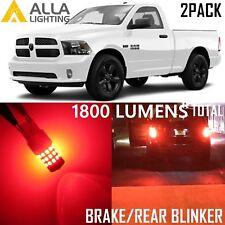 Alla Lighting Brake Turn Signal Light 3157 Red LED Bulbs Blinker for Dodge RAM