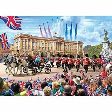 Gibsons Red Arrows Over Buckingham Palace 1000 Piece Jigsaw Puzzle