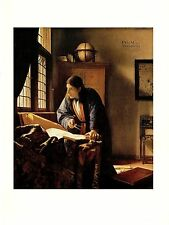 """1981 Vintage VERMEER """"THE GEOGRAPHER"""" FABULOUS COLOR offset Lithograph"""
