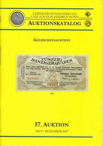 Auktionskatalog 57. Auktion 07.12.2007 Leipziger Münzhandlung Geldscheinauktion