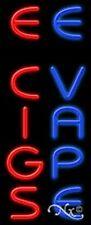 "NEW ""E CIGS E VAPE"" 32x13 VERTICAL REAL NEON SIGN W/CUSTOM OPTION 11549"