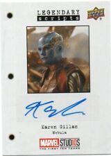 2018 Marvel Studios First Ten Years Autograph Karen Gillan as Nebula Ls-Kg