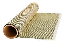Yellow Kevlar /Carbon Fiber hybrid Cloth Twill weave (3K) 100cm x 50cm fabric