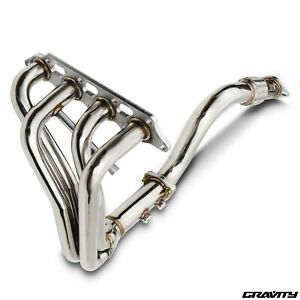 STAINLESS RACE EXHAUST MANIFOLD & DECAT DE CAT FOR FORD FOCUS MK1 1.8 2.0 98-04