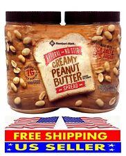 Member's Mark Natural No Stir Creamy Peanut Butter Spread (40 oz. X 2 ct.)