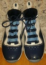 NIKE 2008 AIR ZOOM BASKETBALL SHOES MEN'S SIZE 13 BLUE/WHITE #361655-141
