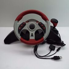 MAD CATZ MC2 STEERING WHEEL ONLY - UNIVERSAL SET XBOX, PS2, GAMECUBE (T52)