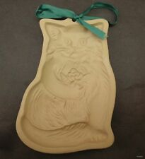 1984 Cat w/ flowers Brown Bag Cookie Art Hill Design Candy Craft Mold