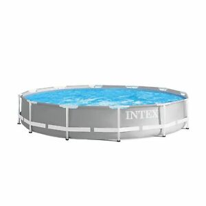 Intex 12ft x 30in Prism Frame Above Ground Round Swimming Pool (No Pump)