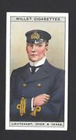 WILLS - NAVAL DRESS & BADGES - #16 LIEUTENANT OVER 8 YEARS