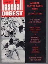 1970 (April) Baseball Digest Magazine, Tony Perez, Cincinnati Reds ~ VG