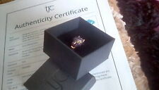 TJC Stunning Gemstone Panther 14ct Rose Gold overlay Silver 2.850 Ring sz R
