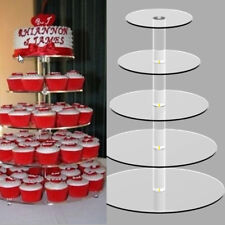 5Tier Acrylic Round Cake Cupcake Stand Tower Display Birthday Wedding Party