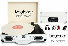 Boytone BT-101TBWT 5 in 1 Briefcase Record Player AC-DC  33.3/ 45/78