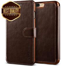 VRS Design Dandy Leather-Style iPhone 7 Plus + 8 Plus Wallet Case - Dark Brown