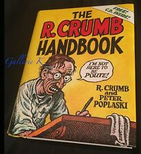 R. CRUMB HANDBOOK SIGNED BY ALINE KOMINSKY-CRUMB & PETE POPLASKY 1/1 NEW WITH CD