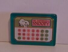 Snoopy Calculator Style Paperweight Superbeagle Peanuts Denz Japan