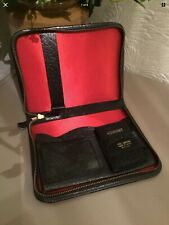 Vintage Black Leather Writing Case