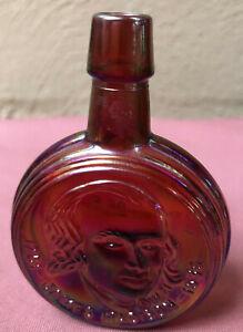 RED CARNIVAL GLASS PRESIDENT BOTTLE