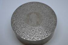 Vintage Sterling Silver Shreve Crump & Low Co. Vanity Box Beautiful Engraved