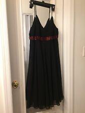 Eva Blue Black Holiday/cocktail Dance Dress Size 8