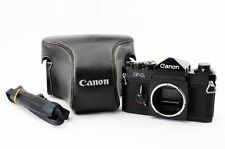 Canon F-1 Black Body 35mm Film Camera First-Model w/ Case from Japan C0940A