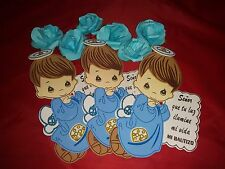 10PC- Baby Boy Baptism Foams: Baby Shower Decoration (Decoracion para Bautizo)