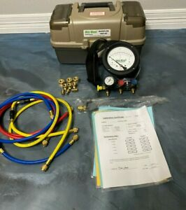 VERY CLEAN Midwest 845-5 5 Valve Backflow Test Kit, 2019 Calibration